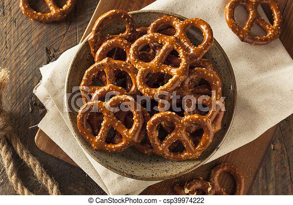 Healthy Salty Baked Pretzels - csp39974222