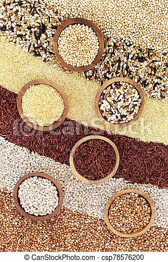 Healthy Super Grain Selection - csp78576200