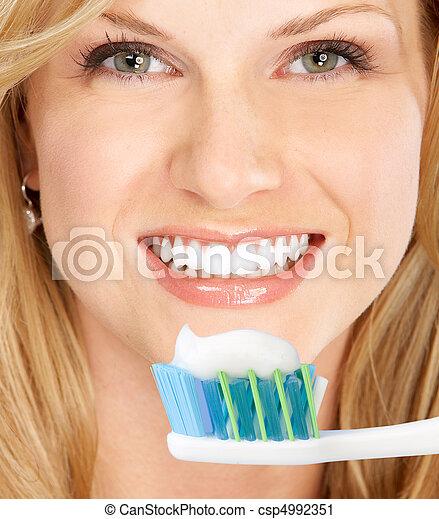 Healthy teeth - csp4992351