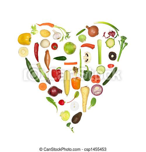 Healthy Vegetable Heart - csp1455453