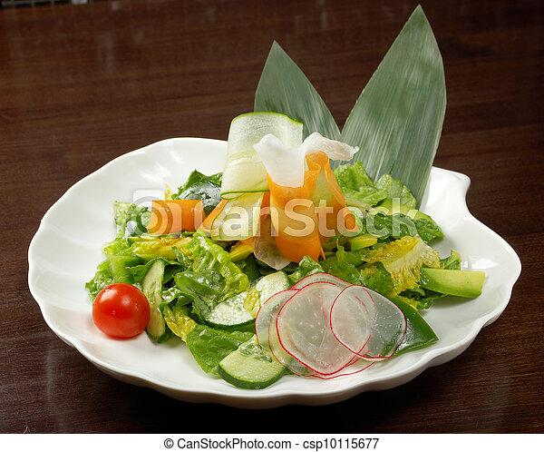 Healthy vegetable salad. - csp10115677