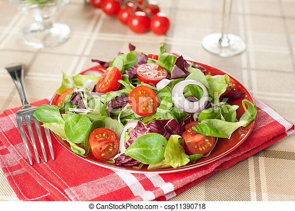 Healthy vegetable salad - csp11390718