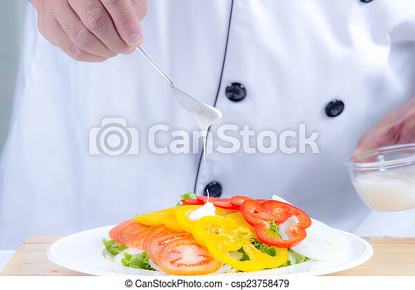 healthy vegetable salad - csp23758479