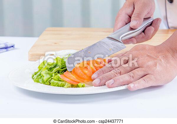healthy vegetable salad - csp24437771