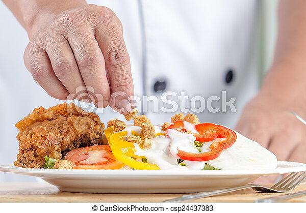 healthy vegetable salad - csp24437383