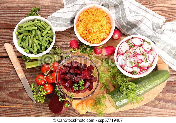 healthy vegetable salad - csp57719487