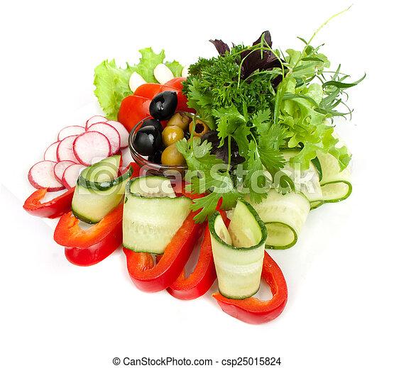 Healthy vegetable salad - csp25015824