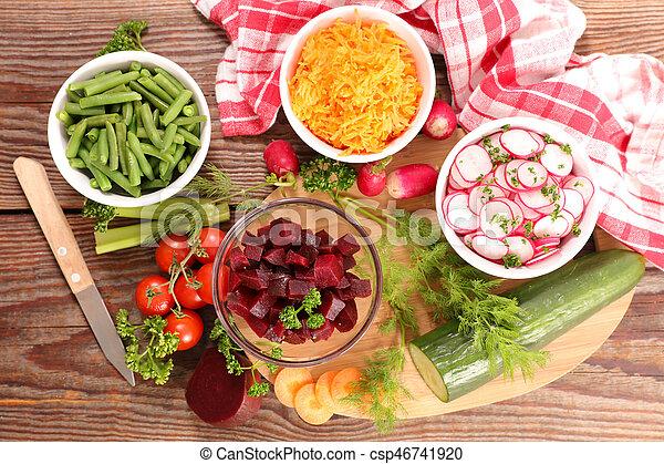 healthy vegetable salad - csp46741920