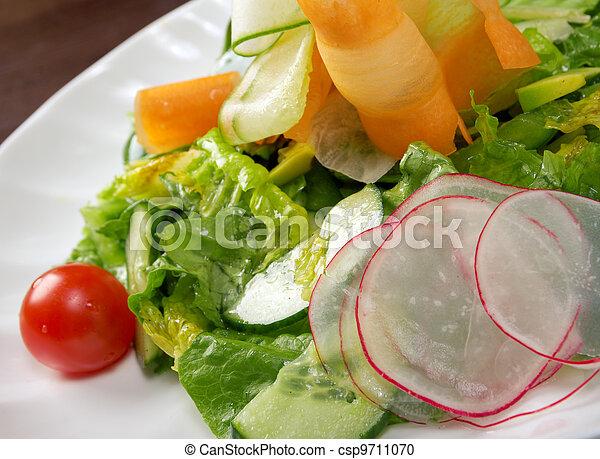 Healthy vegetable salad. - csp9711070