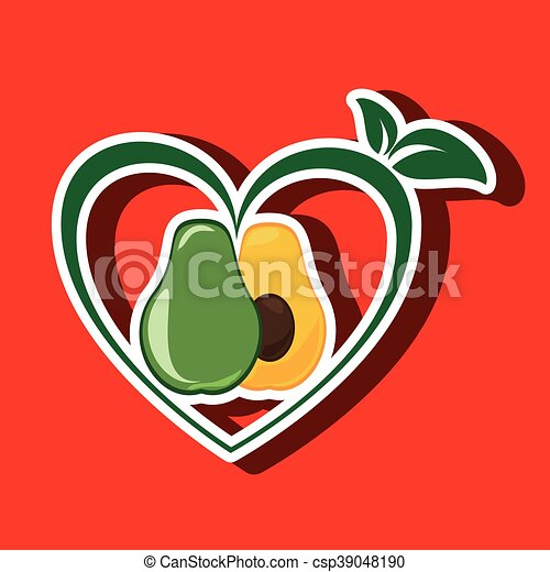 healthy vegetarian food label isolated icon design - csp39048190