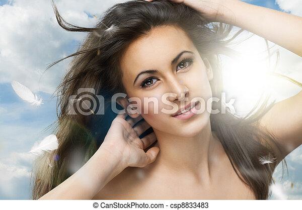 healthy woman - csp8833483