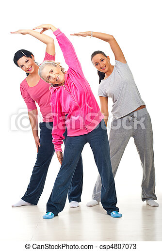 Healthy women stretching  - csp4807073