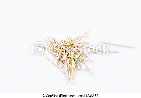 heap of cotton sticks - csp11286687