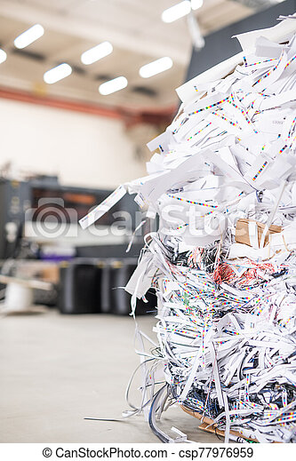Heap of cut papers - csp77976959