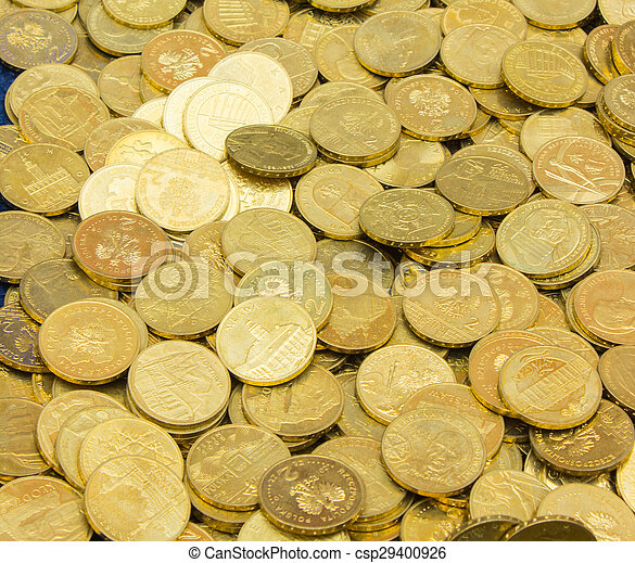 Heap of old dirty collection of coins for sale - csp29400926