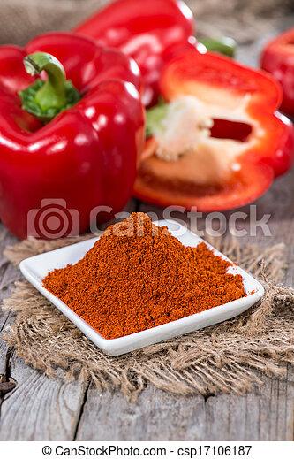 Heap of Paprika Powder - csp17106187