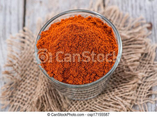Heap of Paprika Powder - csp17155587