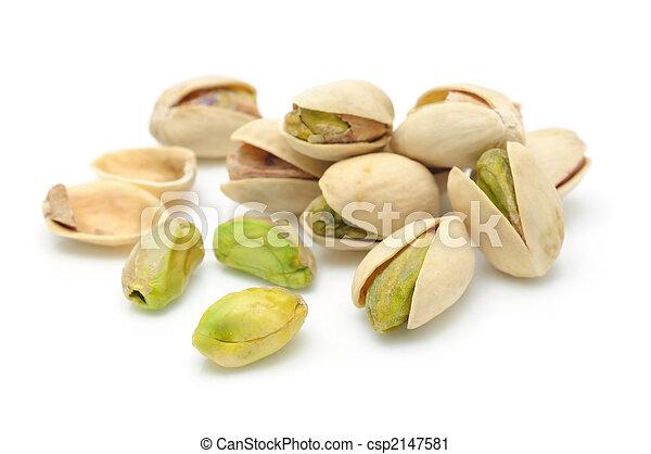 Heap of pistachios nuts - csp2147581