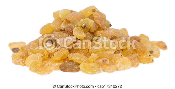 Heap of Raisins on white - csp17310272