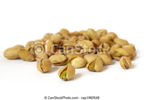 Heap of salty pistachios - csp1960548