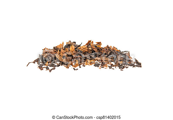 heap of tobacco on a white background, isolated. - csp81402015