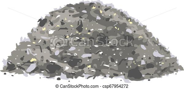 Heap of trash isolated - csp67954272
