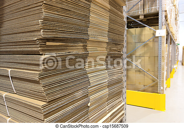 Heap of wavy corrugated - csp15687509