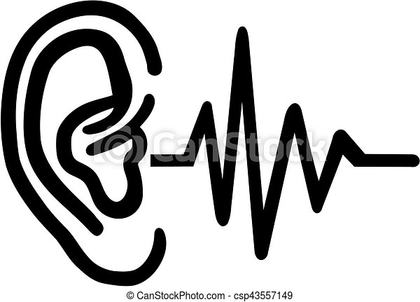 Hearing aid - ear with frequence - csp43557149