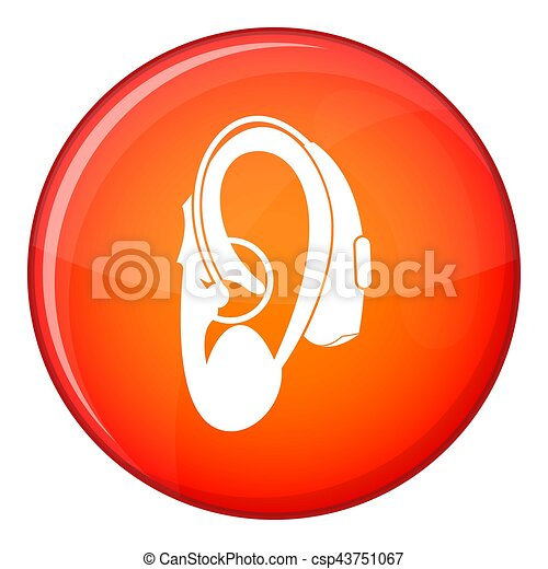 Hearing aid icon, flat style - csp43751067