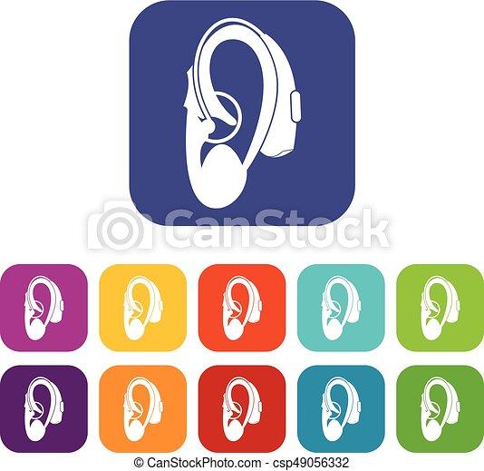 Hearing aid icons set - csp49056332