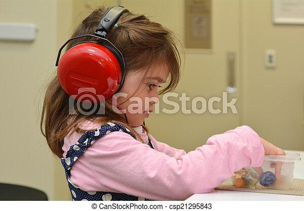 Hearing check for pre-school children - csp21295843