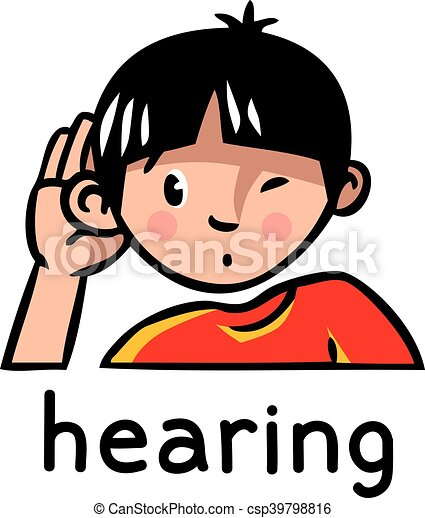 hearing sense icon icons of one of five senses hearing vector rh canstockphoto com five senses clipart free five senses clip art preschool