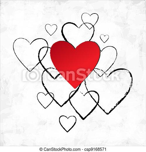 heart., 日, バレンタイン - csp9168571
