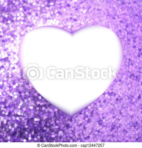 heart., 紫色, フレーム, eps, 形, 8 - csp12447257