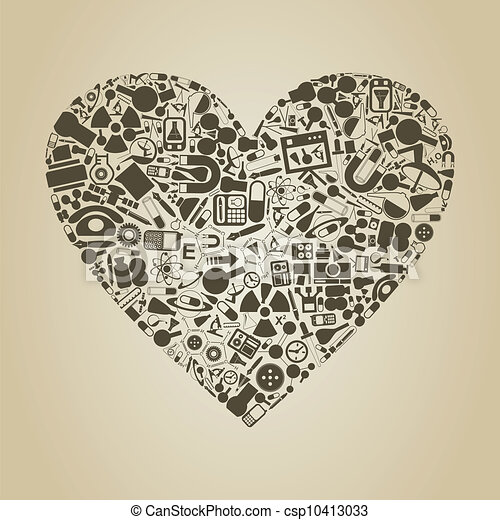 Download Heart a science. Heart from objects of science. a vector ...