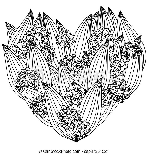 Digital coloring page whimsical flowers. Don't worry be | Coloring ... | 470x450
