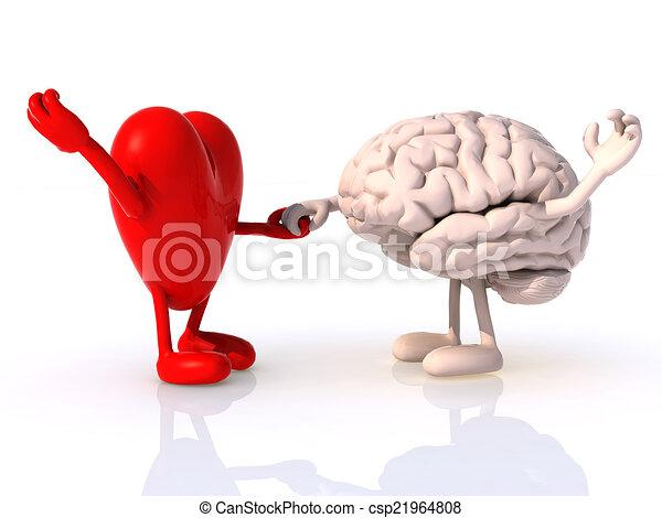 heart and brain that dance - csp21964808