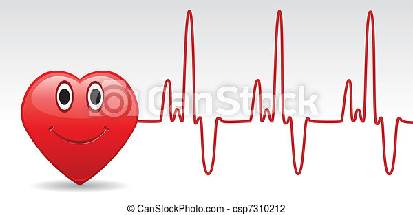 heart and heartbeat  - csp7310212