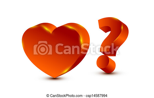 heart and question mark - csp14587994