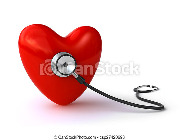 Heart and stethoscope - csp27420698