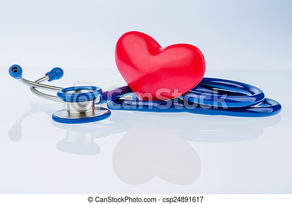 heart and stethoscope - csp24891617