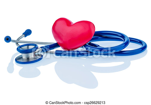 heart and stethoscope - csp26629213