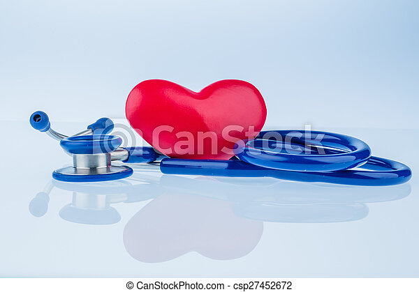heart and stethoscope - csp27452672