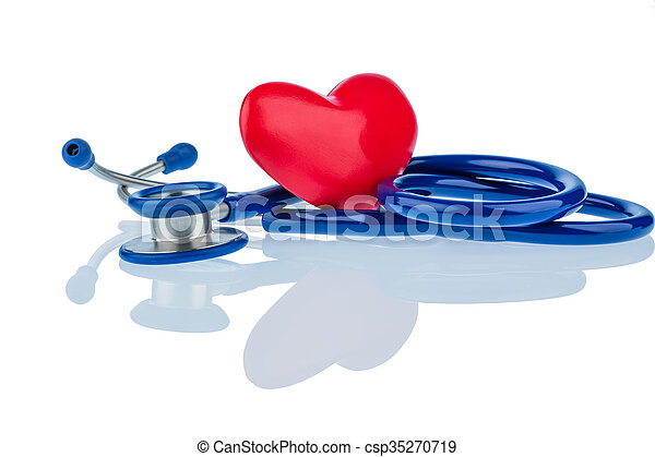 heart and stethoscope - csp35270719