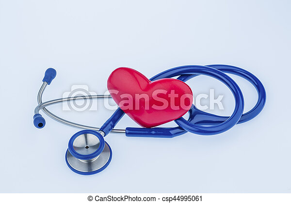 heart and stethoscope - csp44995061