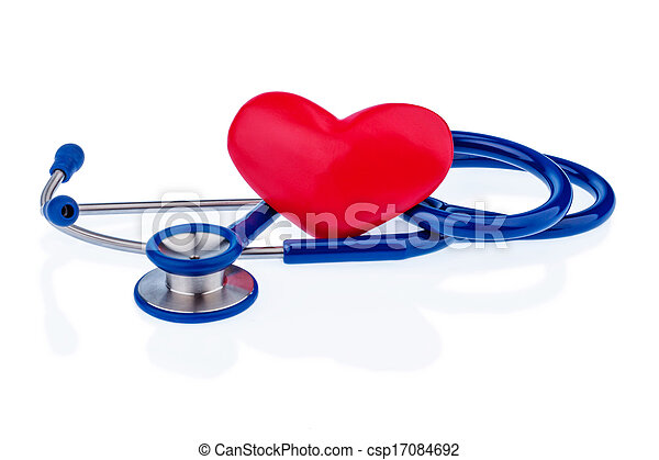 heart and stethoscope - csp17084692
