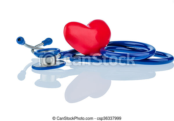 heart and stethoscope - csp36337999