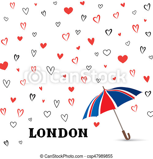 Heart background with umbrella love pattern for greeting stock heart background with umbrella love pattern for greeting card csp47989855 voltagebd Images