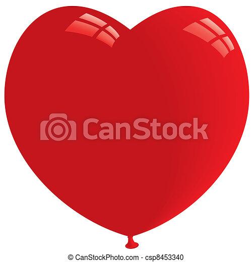 Heart Balloon. Vector - csp8453340