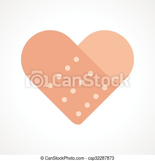 heart band aid simple graphic of heart shaped bandage vectors rh canstockphoto com bandaid clipart free bandaid clipart free